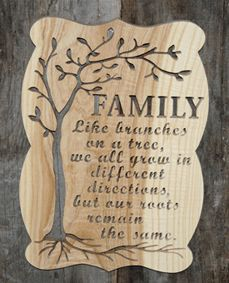 Scroll Saw Patterns :: Plaques :: Word plaques :: Family roots -                                                                                                                                                      More