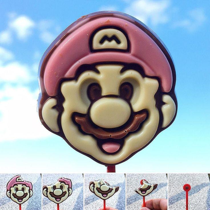 Peroti Super Mario  Chocolate en forma de Mario. Disfruta del mini juego también en forma de chocolate.  En la caja del mes!  www.boxfromjapan.com  Mario nos acompaño al Pokemn Center ayer para los detalles pasen por nuestro canal de Youtube. Suscribete si te gusto! :) #BoxFromJapan #BFJenero #pokemon #pokemoncenter #supermario