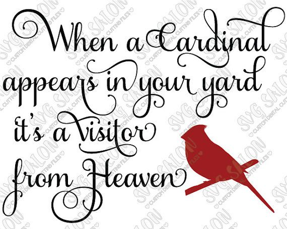 Svg When A Cardinal Appears In Your Yard Vinyl Decal
