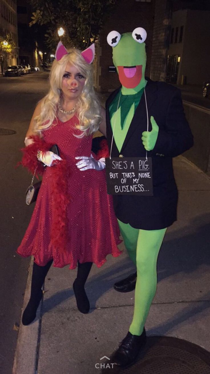 Kermit and Miss Piggy couples costume