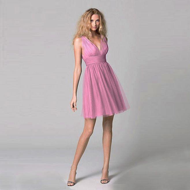 ブライズメイド・ボビネットVネックドレス。ビーチに映えるラベンダーカラーのブライズメイドドレス。  #Bridesmaid #Dress #Pink #Wedding