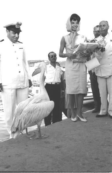 1961- Jackie Kennedy in Mykonos  (photo by  James Burke)