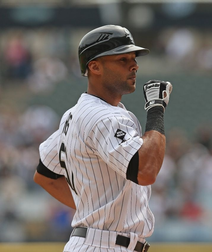 #swag CHICAGO, IL - SEPTEMBER 05: Alex Rios #51 of the Chicago White Sox celebrates hitting a grand slam home run in the 1st inning against the Minnesota Twins at U.S. Cellular Field on September 5, 2012 in Chicago, Illinois. (Photo by Jonathan Daniel/Getty Images)