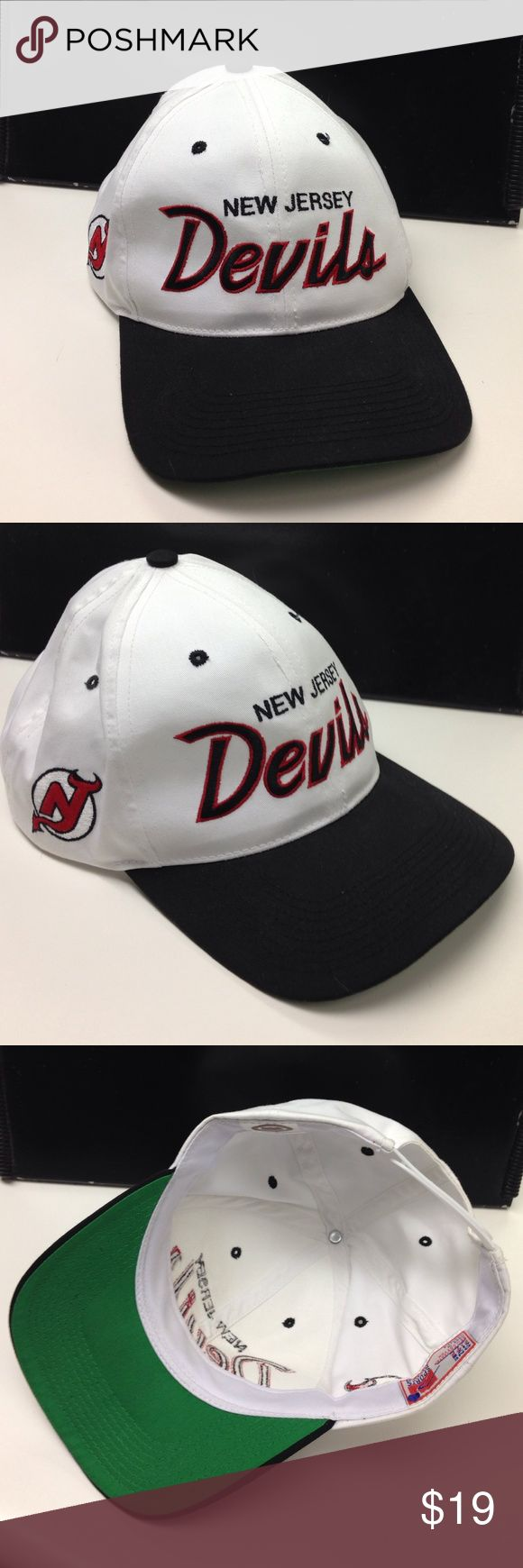 New Jersey Devils Hat New Jersey Devils Hat. Never worn, only used for display. Like brand new. Adjustable strap. One size fits all Sports Specilaties Accessories Hats