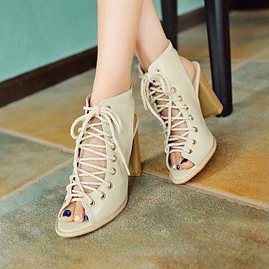 Scarpe Donna - Sandali / Scarpe col tacco - Tempo libero / Formale / Casual - Tacchi / Spuntate / Cinturino alla caviglia - A stiletto - del 2016 a €24.00