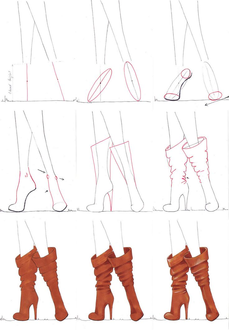 A Step By Step Tutorial On How To Draw Boots Easy Drawing