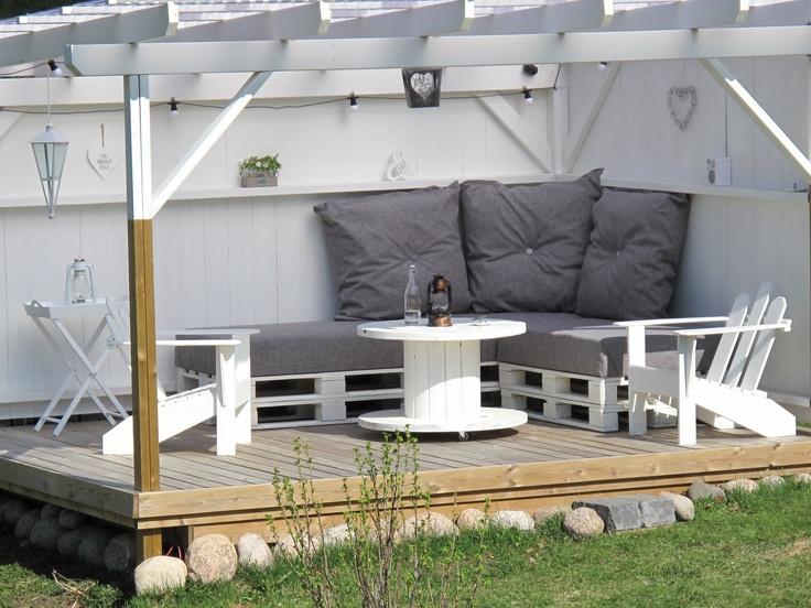 Te drømmehagen min, en liten kosekrok i ly for nordavinden :-)