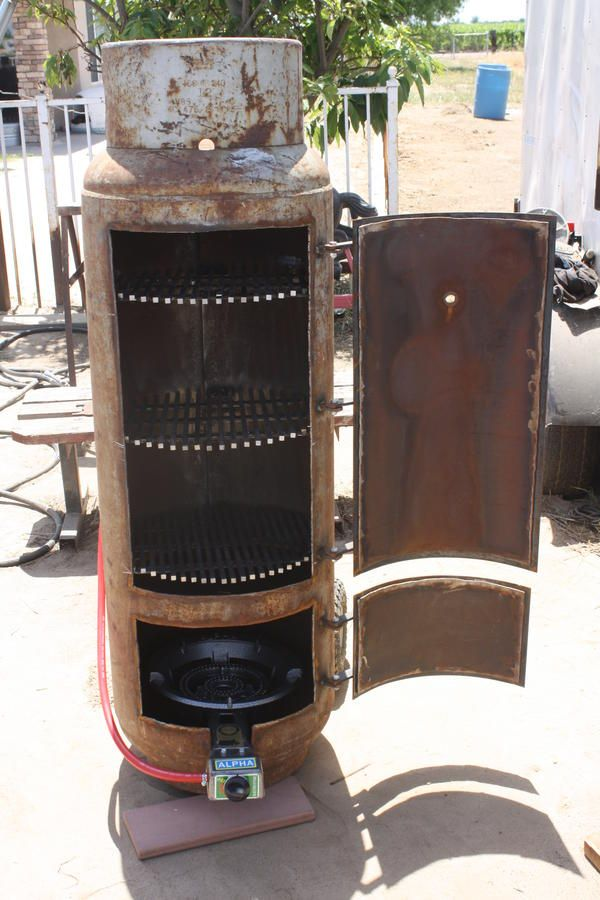 Built In Smoker Outdoor Kitchen: Vertical Propane Tank Smoker Build
