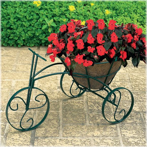 From Avantgardendecor.com · CobraCo® Tricycle Flower Planter, Model TRCFP B  This Planter Would Look So Pretty
