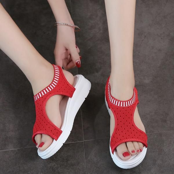 Women's Sandals 2019 Summer Breathable Platform Comfort Walking Sandals