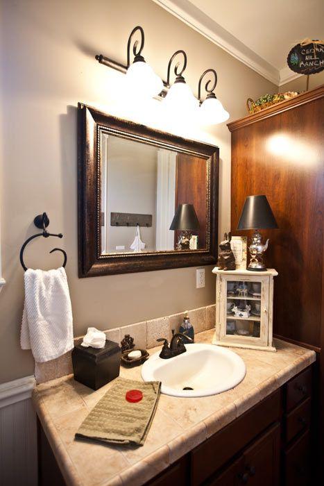 Best Bathroom Lighting Ideas Images On Pinterest Bathroom - Farmhouse bathroom light fixtures for bathroom decor ideas
