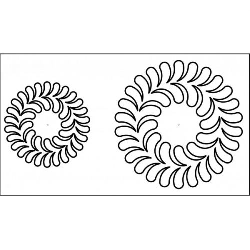 67 best long arm templates images on pinterest quilting 13 inch colonial wreath quilting template quilt ez pronofoot35fo Images