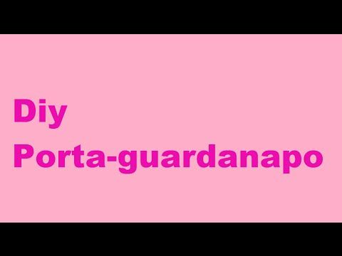 Diy porta guardanapo - YouTube