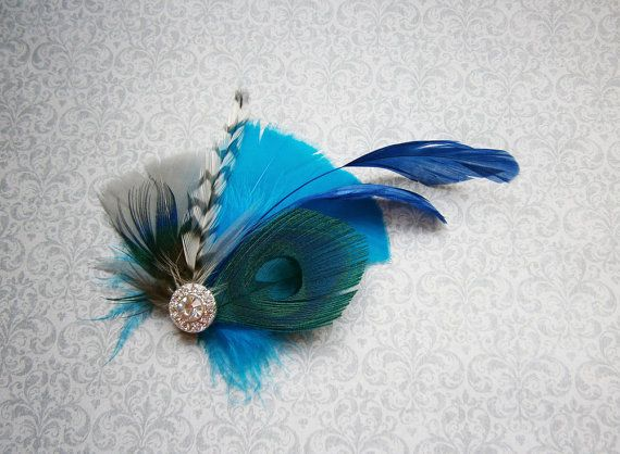 Feather Hair Accessories Peacock Feather Hair by PeacockPixys, $28.00