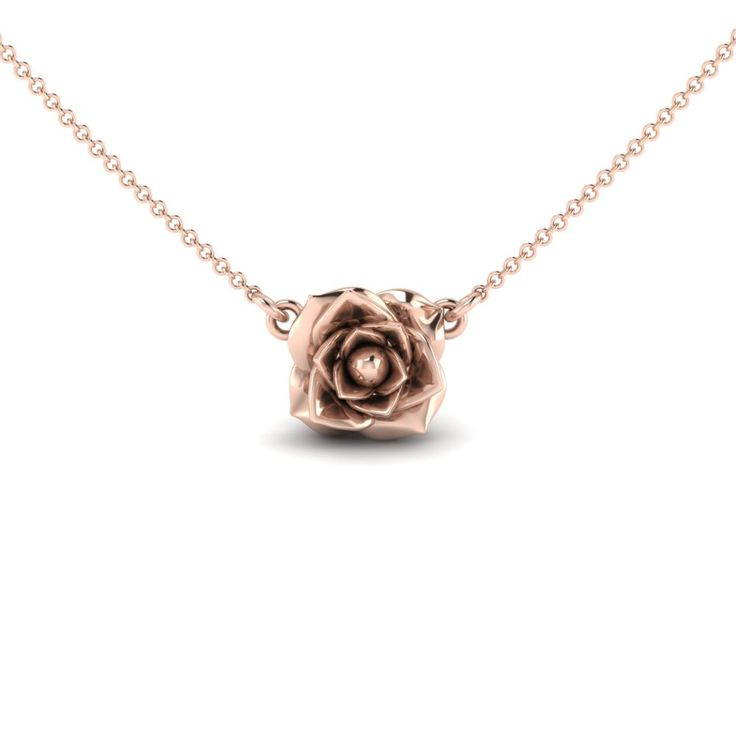 We love how this delicate Rose Blossom sits at the base of the neckline. It's feminine and cool and can be worn with everything! Great for layering too! - Available in 14K Yellow Gold or 14K Rose Gold