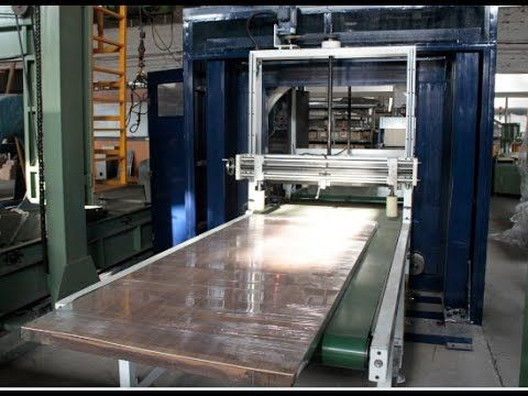 Automatic door wrapping machine/stretch wrapper
