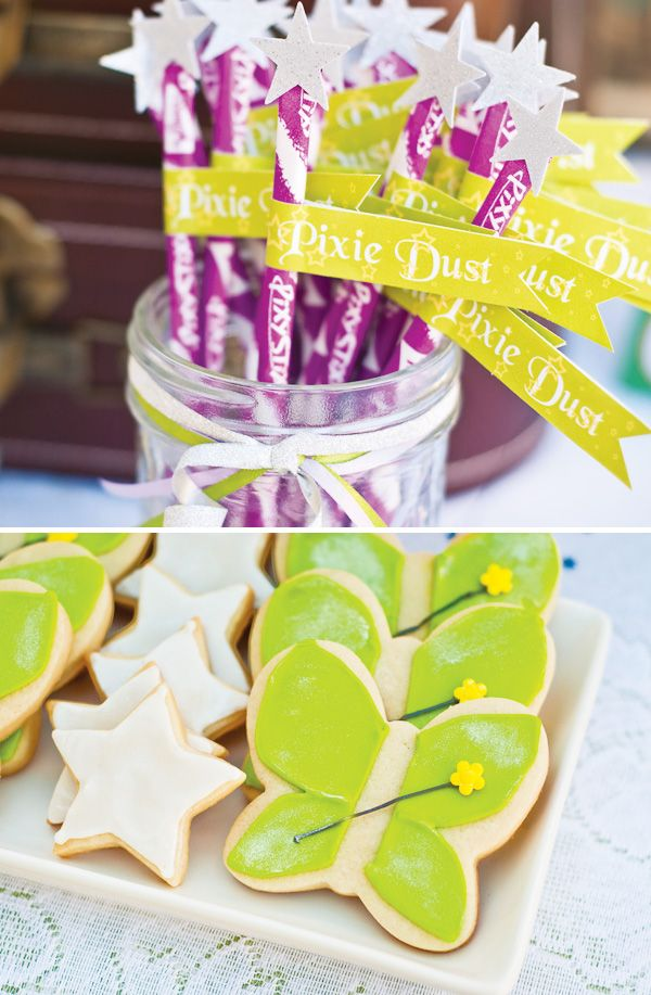 Magical Peter Pan Party {4th Birthday} Pixie Dust Wands and Cookies