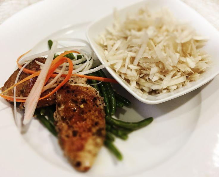 Denné menu Vranov | Biftečky z bravčovej panenky na zelenej fazuľke a cesnaku, topinamburový šalát s aloe vera - reštaurácia Hotel Patriot*** #hotel #restauracia #dennemenu