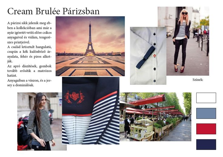 Kollekció színei és hangulata, Cream Brulée Párizsban