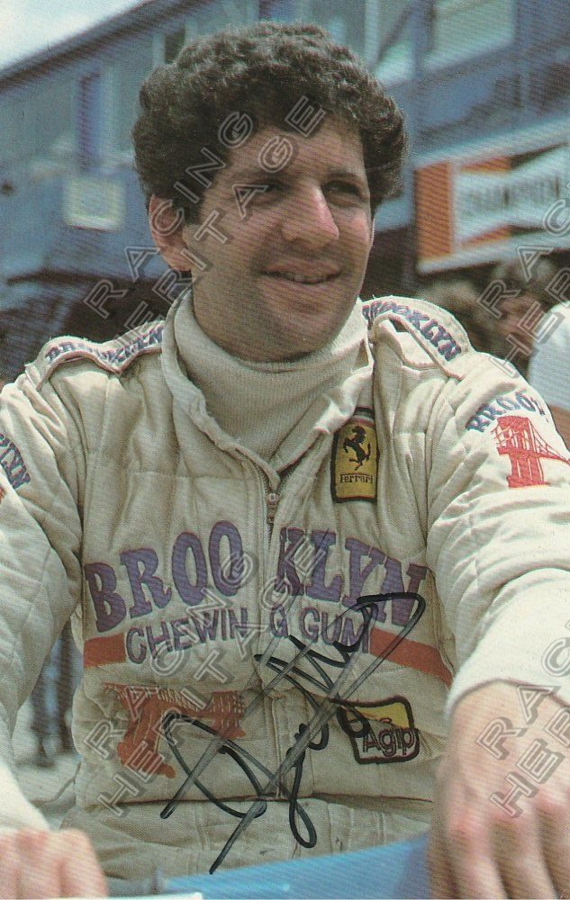 South African Jody Scheckter 1979 Formula One World Drivers' Champion autographed image.  Price $50