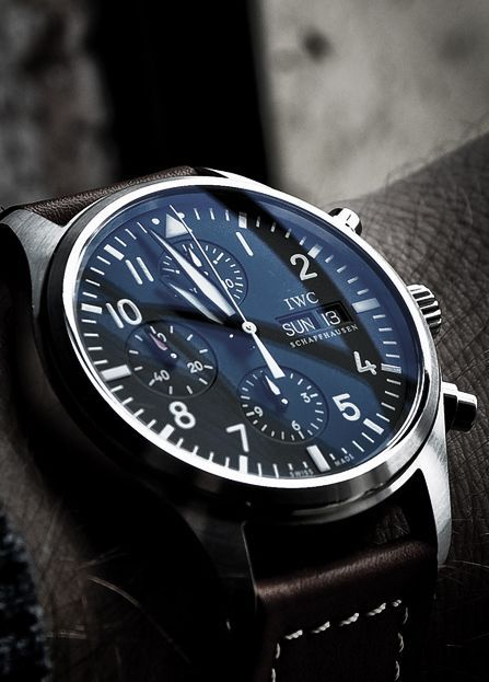 A lovely watch, but expensive. For a more affordable alternative try http://watchhomage.com/category/iwc-pilot-homage/