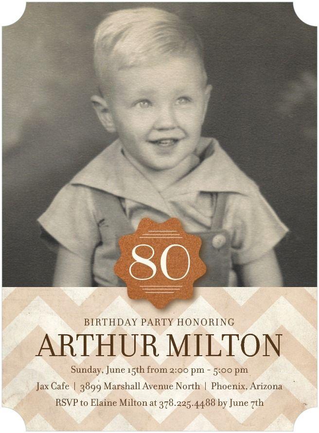 Exquisite Honor   Adult Birthday Party Invitations In Rust Or Charcoal |  Picturebook · EinladungenErwachsenen Geburtstagsparty85.  GeburtstagGeburtstag ...