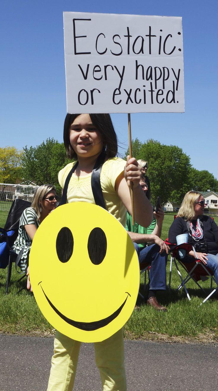 ECSTATIC get a big smile in the Miss Alaineus Vocabulary Parade! More ideas at debrafrasier.com.