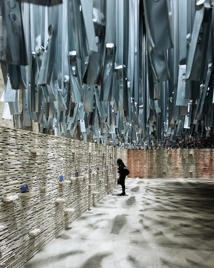 At the Venice Biennale - the Arsenale exhibition main entrance - built out of…