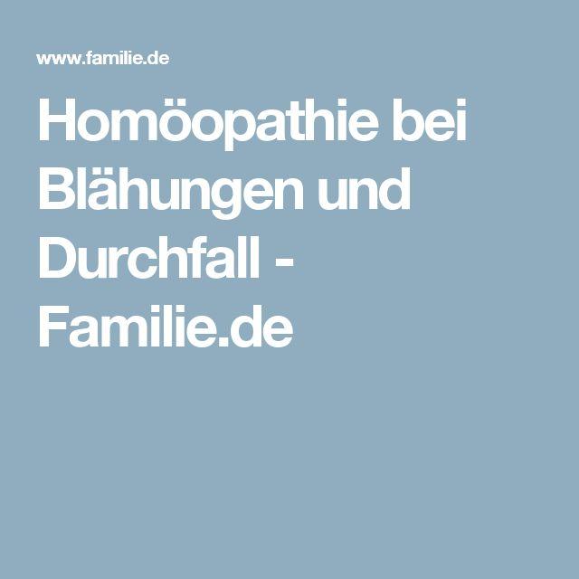 Homöopathie bei Blähungen und Durchfall - Familie.de