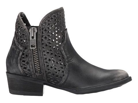 Corral Bootie {Q0001}  Cutout Shortie Grey Black