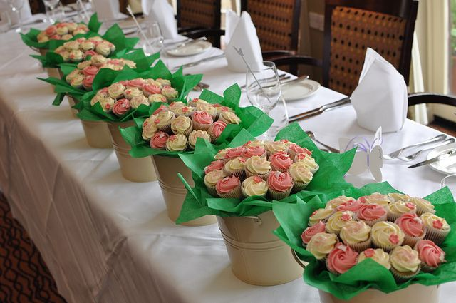 Mini cupcake flower pots by Little Miss Cupcakes, via Flickr