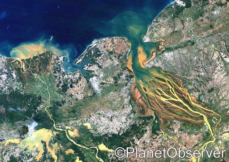 Betsiboka river delta, Madagascar – PlanetSAT satellite image