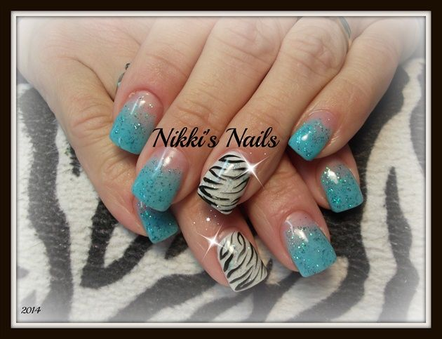 Blue Zebra - Nail Art Gallery