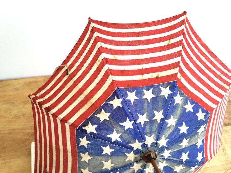 Rare Patriotic Doll Parasol . Antique American Flag Parasol . Vintage Toy Flag Umbrella . USA . 48 Star Flag Toy Parasol by 3WrenStreet on Etsy