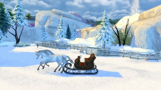 Winters Dream Park and Ice Cave by Snowhaze at Mod The Sims