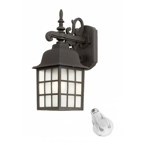 96 best june outdoor lighting sale images on pinterest lighting design classics lighting outdoor wall lantern with 8 watt led light bulb 3344 bk mozeypictures Images