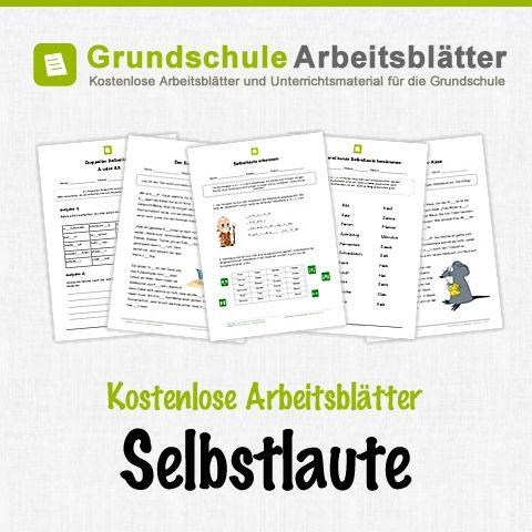 Kostenlose Arbeitsblätter und Unterrichtsmaterial für den Deutsch-Unterricht zum Thema Selbstlaute in der Grundschule.