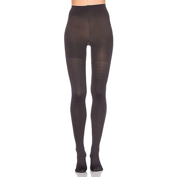 SPANX Cable Knit Tights (£17) ❤ liked on Polyvore featuring intimates, hosiery, tights, socks/tights, nylon stockings, spanx stockings, spanx hosiery, cable tights and spanx tights