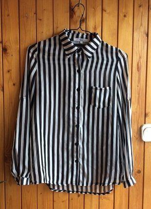 Kup mój przedmiot na #vintedpl http://www.vinted.pl/damska-odziez/koszule/17026473-koszula-paski-idealna-czarno-biala