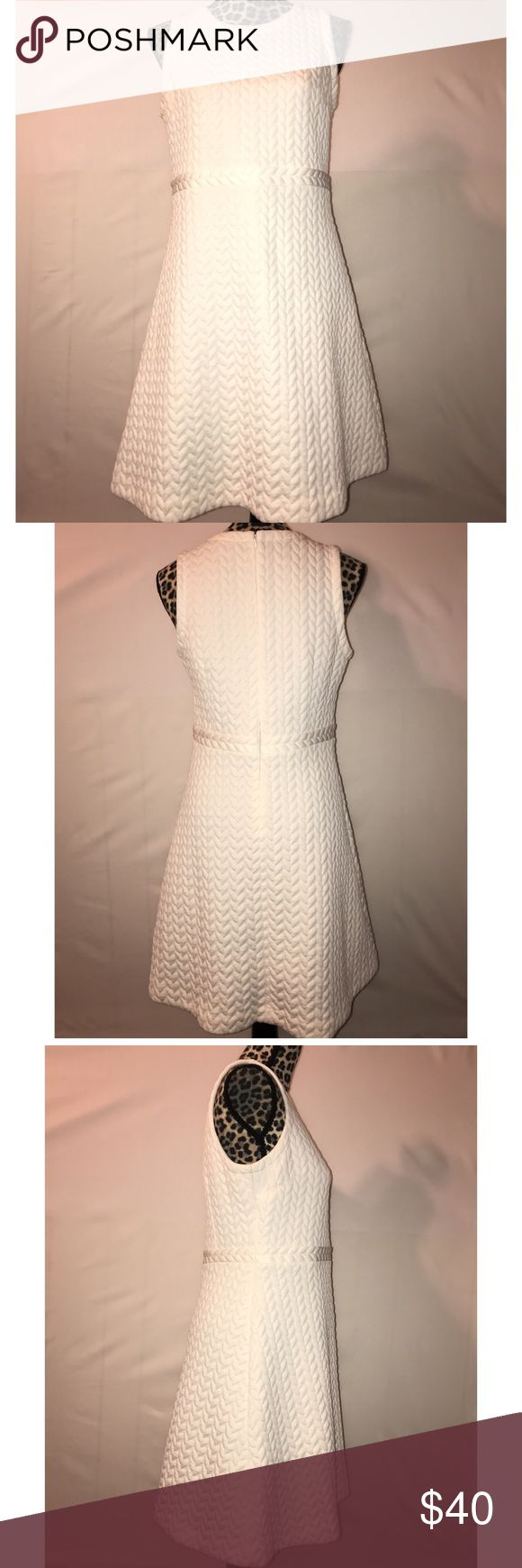 """Womens Ann Taylor LOFT off white dress 8 petite Beautiful Ann Taylor Loft sleeveless dress, size 8 petite, off white color,  gently used no stains, holes, or pulls, zips up the back Armpit to armpit 36"""" waist 32"""" top to bottom 36"""" LOFT Dresses Midi"""