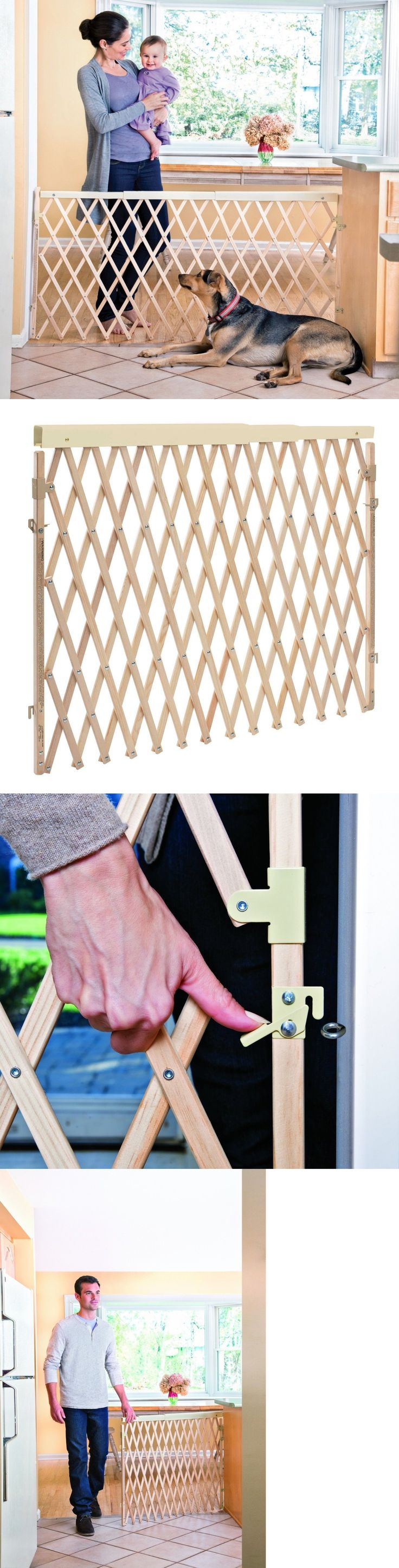 Baby Safety and Health 20433: Expandable Swing Wide Gate Fence Baby Kids Child Pet Dog Safety Extra Wide Wood -> BUY IT NOW ONLY: $36.61 on eBay!