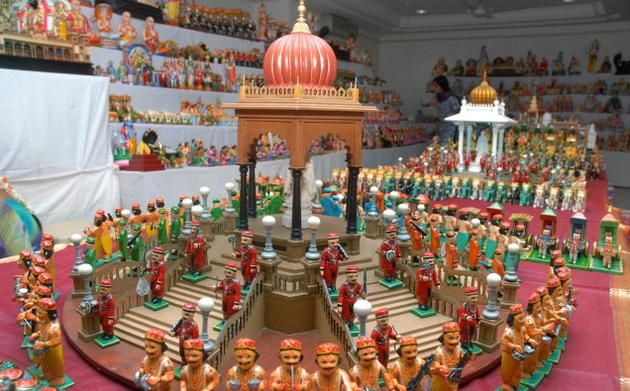 visual delight: Dasara scenes are replicated in all their finesse at Prathima Gallery in Mysore.