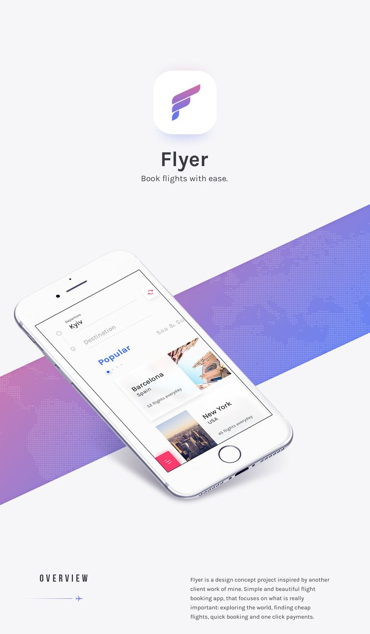 Simple and intuitive flight booking app that focuses on what is really important.