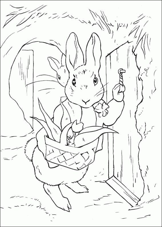 40 best Beatrix Potter images on Pinterest Coloring books - best of bunny rabbit coloring pages print