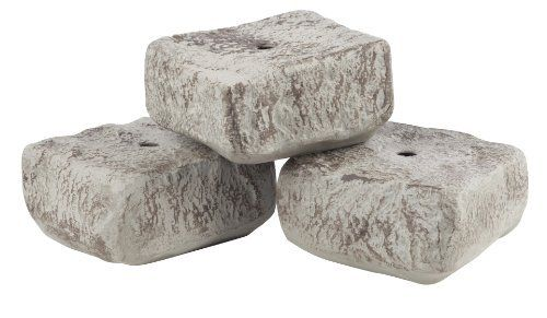 RTS Home Accents 5506-000103-0000 Rock Lock End Pieces - 3 Pack by RTS Home Accents. $23.99. Endless layout possibilities.. Extends your growing season.. Weather proof.. Easy to assemble.. Look and feel of real stone.. The end rocks give a finished look to the corners of your design. This interlocking border system gives the look and feel of real stone. Achieve beautiful authentic looking walls in just minutes with endless layout possibilities! The easy to assemble modules wi...