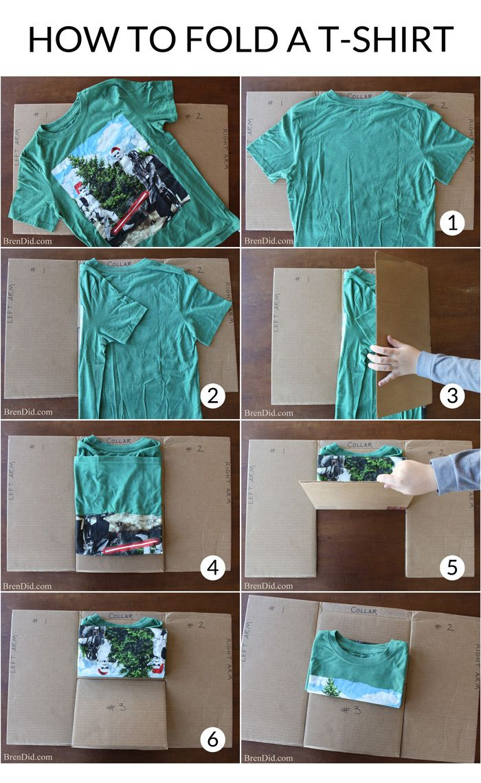 Best way to fold clothes for suitcase - Make An Easy Diy T Shirt Folding Device From A Cardboard Box