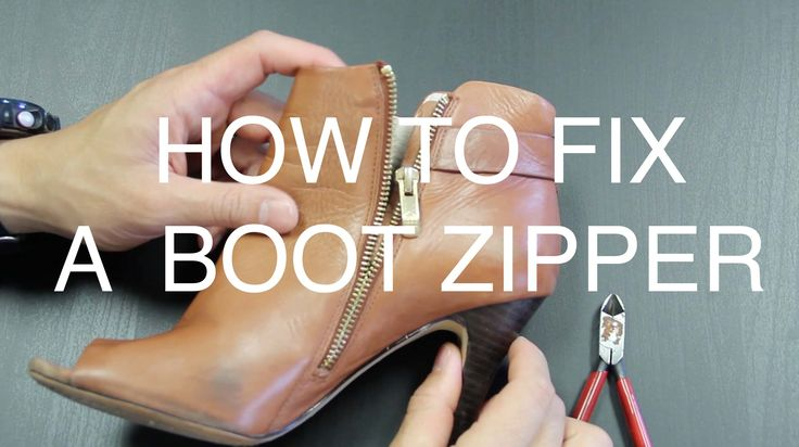 A quick video to fix a boot zipper and get your boots back in action.