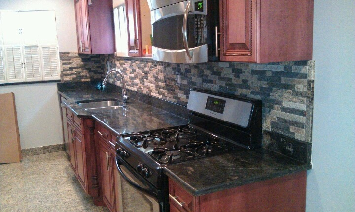 stone backsplashes for kitchens recycled granite split veneer as a kitchen 5821