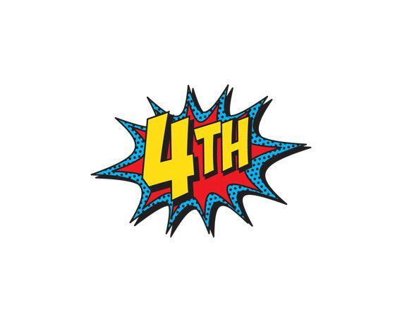 PRINTABLE Number Burst for Superhero Happy Birthday Banner ...