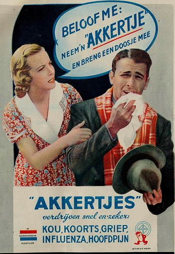 adv Akkertjes 1939 | Flickr - Photo Sharing!  dit advies kreeg ik vroeger van mijn moeder: neem een akkertje. Jarenlang hebben we het zo genoemd, ook al toen het een ander naam had gekregen/ ander merk geworden.